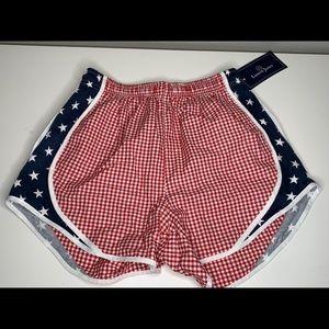 Lauren James Red White USA Flag Shorties Shorts S